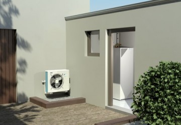 lucht/water warmtepomp