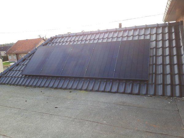 Realisatie 14 zonnepanelen LG 320 met SMA Omvormer SB3.6 te Houthalen-Helchteren