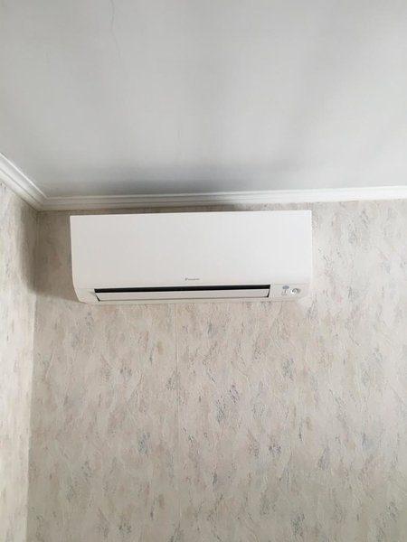 Realisatie Daikin airco warmtepomp luchtlucht bestaande uit 1 buitenunit en 1 binnenunit te Heusden-Zolder