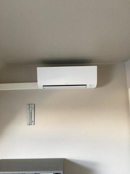 Realisatie Daikin airco warmtepomp luchtlucht bestaande uit 1 buitenunit en 2 binnenunit te Heusden-Zolder