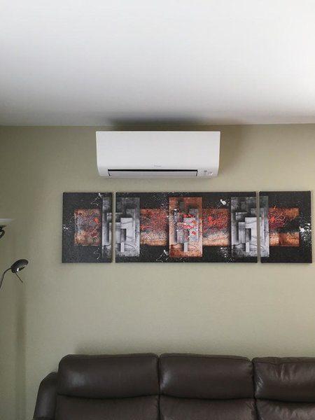 Realisatie Daikin aircowarmtepomp luchtlucht te Beringen