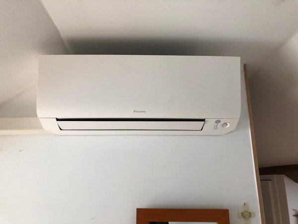 Realisatie Daikin Perfera airco warmtepomp luchtlucht bestaande uit 1 buitenunits en 3 binnenunits te Sint-Truiden