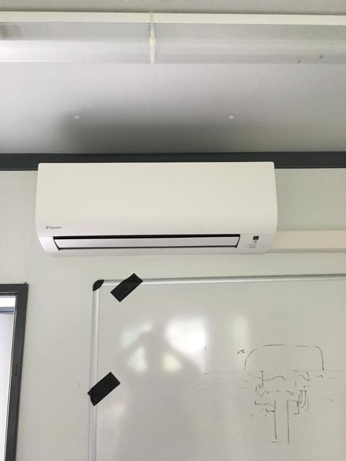 Realisatie Daikin airco warmtepomp luchtlucht bestaande uit 2 buitenunit en 2 binnenunits te Schoten