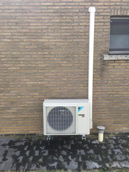 Realisatie Daikin aircowarmtepomp luchtlucht bestaande uit 2 binnenunits en 2 buitenunits te Tienen