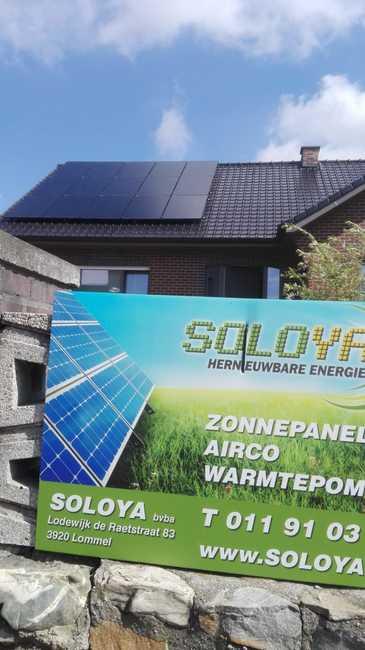 Realisatie 15 zonnepanelen Peimar 300 mono Full black met SMA omvormer SB3.0 te Lommel