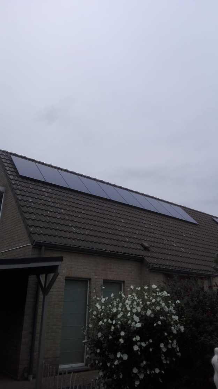 Realisatie 10 zonnepanelen Peimar 310 mono Full black met SMA omvormer SB3.0 te Ham