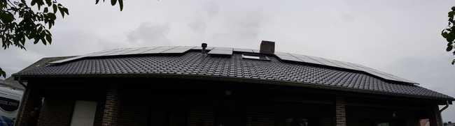 Realisatie 32 zonnepanelen REC 320 Wp met SMA omvormer STP8.0 te Lommel