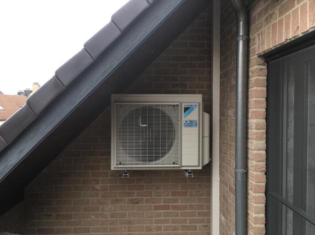 Realisatie Daikin Perfera aircowarmtepomp luchtlucht bestaande uit 2 binnenunits en 1 buitenunit te Overpelt