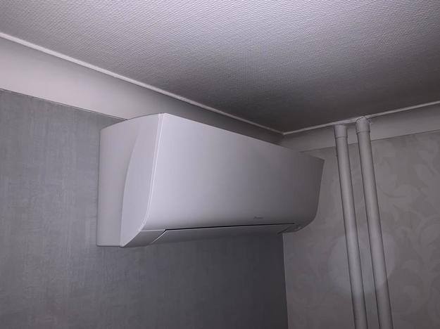 Realisatie Daikin Perfera aircowarmtepomp luchtlucht bestaande uit 2 binnenunits en 2 buitenunits te Beringen