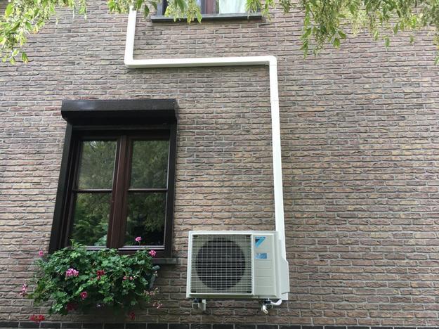 Realisatie Daikin Perfera + Stylish aircowarmtepomp luchtlucht bestaande uit 2 binnenunits en 1 buitenunit te Zaventem