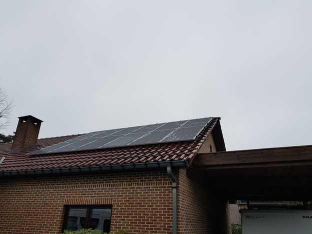 Realisatie 12 zonnepanelen LG 400 Wp met SMA omvormer SB36 te Scherpenheuvel-Zichem