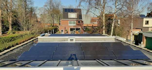 Realisatie 40x zonnepanelen Peimar 310 Wp Full Black met SMA omvormer 2x STP4.0 te Wijngem