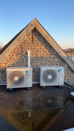 Realisatie Daikin Casette Roundflow aircowarmtepomp te Kinrooi