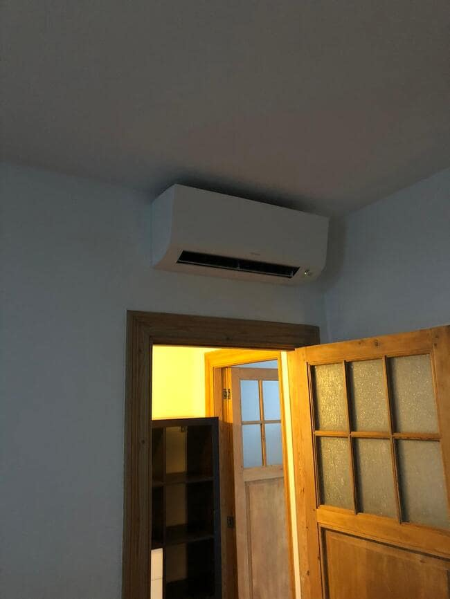 Realisatie Daikin aircowarmtepomp met 3 Perfera binnenunits te Antwerpen